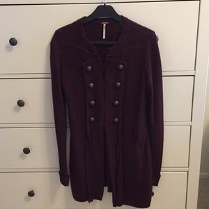 Free people military inspired long sweater